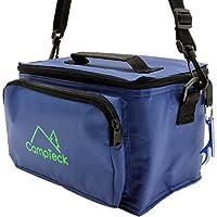 CampTeck Bolsa Azul Refrigerante Compacta Ligera Resistente al Agua 3.5L a Prueba de Derrames Bolsillo frontal, Asa, Correa de hombro y Abrebotellas