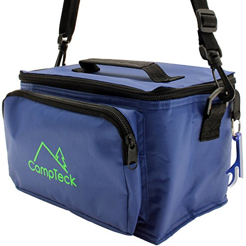 CampTeck Bolsa Azul Refrigerante Compacta Ligera Resistente al Agua 3.5L a Prueba...