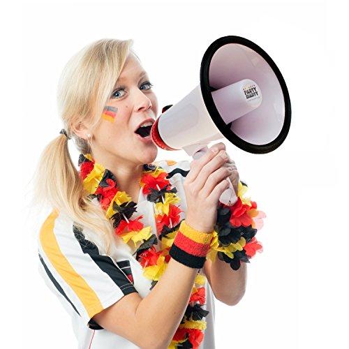 """'Mégaphone """"Crazy bullhorn avec Fan Chant Piles incluses-pour Football Party Majorque Fun-Mégaphone main haut-parleur"""