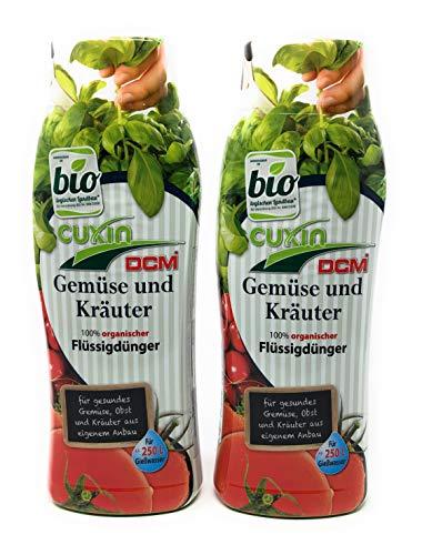 Cuxin 1,6 L Bio flüssig Gemüsedünger ⎜reich an Kalium für festes und saftiges Gemüse⎜organischer Pflanzendünger