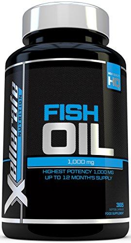 Aceite de Pescado Omega 1000 mg |365 cápsulas softgel | Fabricado
