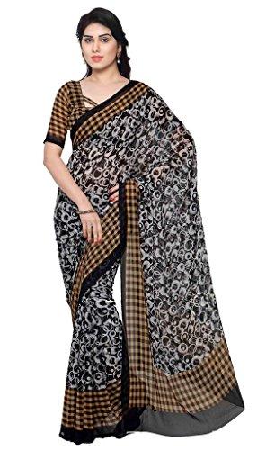 Vaamsi Printed Saree (Empress1017_Black6.3 m length)