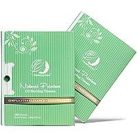 Carbón de bambú natural, aceite para absorción en tejidos–200viene en un paquete de 2unidades, con papel secante para aceite