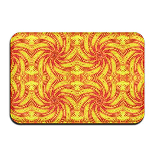 WITHY Non-Slip Bath Mat, Bathroom Rug Mat, Day Lily Swirl 1 Fabric (4746) Senior Design Area Rugs for Living Room(15.7X23.6 inch/40X60cm) -
