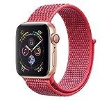 Corki für Apple Watch Armband 38mm 40mm, Weiches Nylon Ersatz Uhrenarmband für iWatch Apple Watch Series 4 (44mm), Series 3/ Series 2/ Series 1 (42mm), Hibiskus