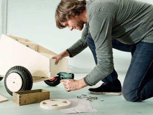 Bosch DIY Akkuschrauber Set PSR Select, Ladegerät, integrierte Bittrommel, 12 Schrauberbits, Koffer (3,6 V, Schrauben-Ø bis 5 mm)