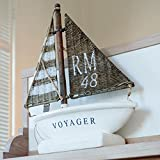 Riviera Maison - Boot, Schiff, Schiffsmodell, Yacht RM 48 - Holz, Keramik, Rattan - schönes Dekorationsobjekt - maritimer Look