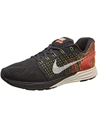 Nike Lunarglide 7 - Zapatos para correr, mujer, color negro (anthrct/sl-tr yllw-hypr orng 007), talla 40