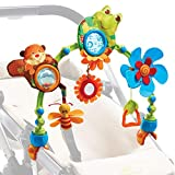 Tiny Love Arche d'activités Articulée My Nature Pals pour bébé, Arche avec jouets colorés, clips de fixation universels compatibles avec poussettes, nacelles et cosi, Dès la naissance