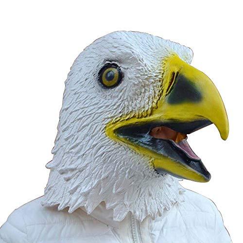 IENPAJNEPQN Lustige saubere Latex White Eagle Hood Masken Halloween Maskerade Party Charakter Cosplay Zubehör (Color : Eagle, Size : One Size) (Sie Teufel Kostüm Zubehör)