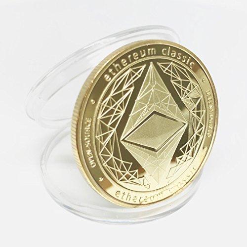 HODLcat Ethereum Classic Etc physische Münze Goldfarben, Perfekt für Kryptofans und Ethereum Fans