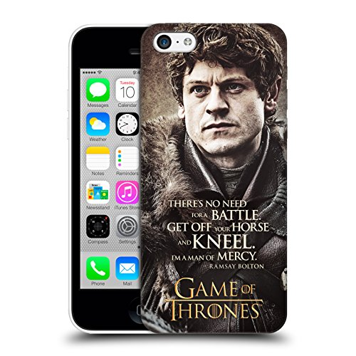Offizielle HBO Game Of Thrones Daenerys Targaryen Zeichen Zitate Ruckseite Hülle für Apple iPhone 5 / 5s / SE Ramsay Bolton
