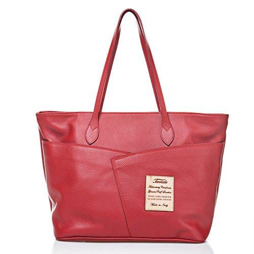 Terrida Marco Polo borsa in pelle - LE941 (Giallo) Rosso