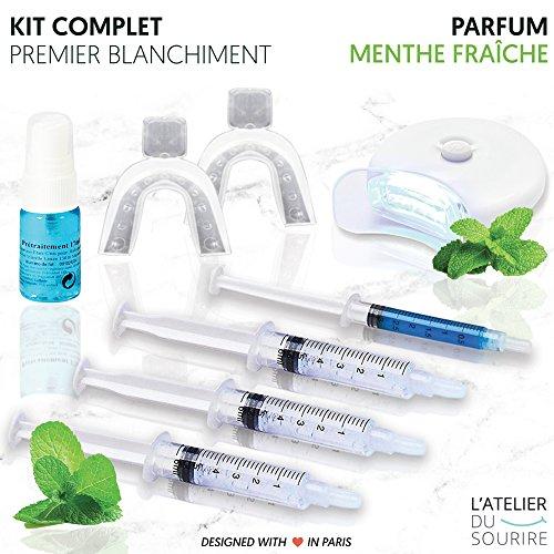 Kit blanchiment dentaire professionnel L'atelier du sourire - Kit complet pour réaliser 10 blanchiments dentaire à la maison....