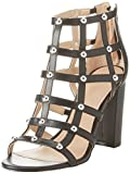 Guess Women's Footwear Dress Shootie Open Toe Heels, Black, 4