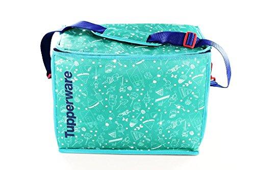 Tupperware Borsa Termica Picnic tasche XXL Pieghevole con Tracolla Turchese/blu