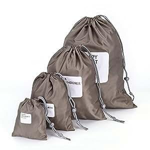 de886ea8f4cd Walmeck 4Pcs Lot Set Travel Storage Bag Waterproof Nylon Drawstring ...