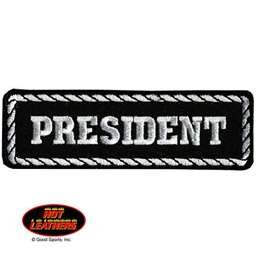 president-black-white-high-thread-iron-on-saw-on-rayon-patch-4-x-1-exceptional-quality