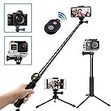[8 in 1] Selfie Stick Stativ, Wineecy Bluetooth Selfie Stick mit Stativ Einbeinstativ und Bluetooth Fernbedienung für GoPro Hero 6/5/4/3+/3/2/ Session,Yi 4K, Kompaktkameras, Handys