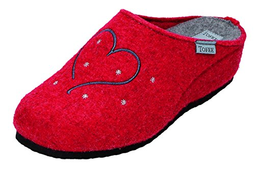 TOFEE , Chaussons pour femme rouge Rot Rouge