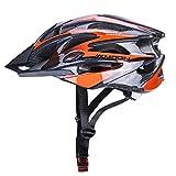 Babimax Casco de Bicicleta Protección Ciclismo Patinaje Casco Bici Deportivo Ligero para Adultos (Borgoña, Negro, M)