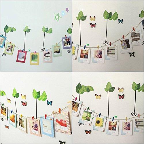 100 mollette colorate portafoto in legno mukkamu shop - Portafoto con molletta ...