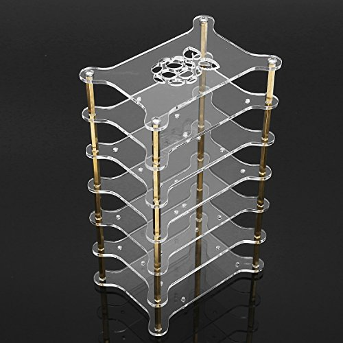 Loro - Clear Acrylic 6 Layer Cluster Case Shelf Stack For Raspberry Pi 3/2 B and B+