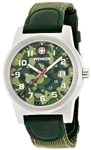 wenger Herren-Armbanduhr camo Analog nylon grün 010441105