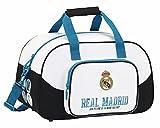 Real Madrid CF, Sporttasche Reisetasche (S273), Weiß, 40 x 24 x 23 cm