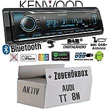 tomzz Audio 2403-049 Radioblende passend f/ür Audi A2 8Z TT 8N mit Can Bus Aktivsystem Adapter Antennenadapter Phantomeinspeisung DIN ISO