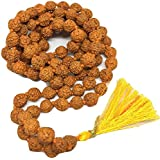 FREEDOM Certified Natural Rudraksha Mala For Astrology Pooja Purpose (108+1 Beads) With Lab Tested Certificate For Men And Women (7 cm)