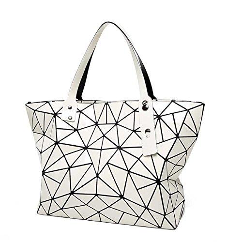 Frauen Unregelmäßige Geometrische Falttasche Mode Schulter Handtasche Creamy