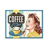 Nostalgic-Art 14344 Say it 50's Coffee O' Clock, Magnet, 8 x 6  cm