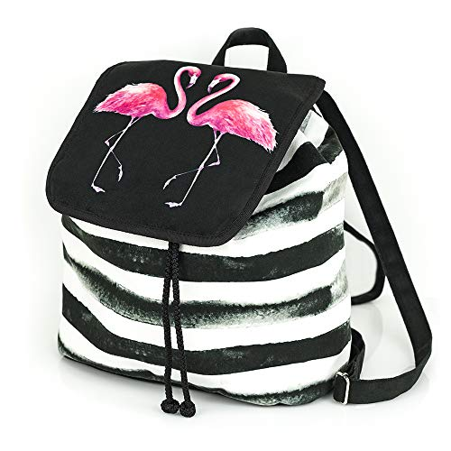 Shellbag Flammend Pink Flamingo Collection Kordelzug Mode-Tasche Rucksack Wildlederimitat  / flamingo backpack/premium quality made in Europe 2018 - Modo Collection