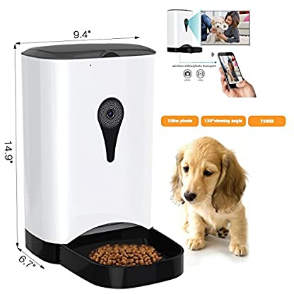 4.5 Litre Automatic Pet Cat Feeder Smart Food Dispenser HD Wifi Real Time Monitoring Dogs by Mobile App 2