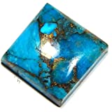 Urancia® Blue Copper Turquoise Persian Blue STONE Mojave Turquoise Bisbee Turquoise American Turquoise Spider-web Matrix Blue Copper Turquoise Persian Turquoise Stones TURQUOISE Blue Copper Turquoise Turkish Turquoise Blue Firoza Gemstone 8.8Cts