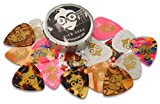Pick Geek Guitar Picks - 16 Cool Custom Guitar Picks for your Electric, Acoustic, or Bass Guitar - Extra Heavy, Heavy, Medium, & Thin (Light) - Presented in a Luxury, Uniquely Designed Metal Pocket Box - for Girls & Guys - Perfect Gift - Guaranteed