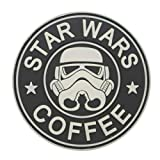 Cobra Tactical Solutions Military Écusson en PVC Star Wars Coffee Stormtrooper Lumineux dans l'obscurité avec Fermeture Velcro pour Airsoft/Paintball pour vêtements Tactiques et Sac à Dos
