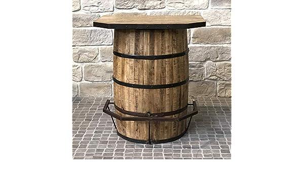 ef601dca1c12d L'ORIGINALE DECO Bar Tonneau FUT Repose Pied Industriel Campagne en Bois  90.50 cm: Amazon.fr: Cuisine & Maison