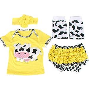 ARAUS Recién Nacido Ropa Trajes Bebé Niñas Niños Escalada Pelele Jumpsuits 4 Pieces Outfits