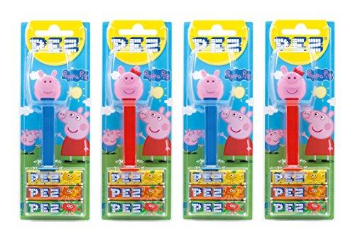 PEZ Spender Set Peppa Wutz (4 PEZ Spender/2 Sortimente mit je 3 PEZ Bonbons á 8,5g) + 2 Nachfüllpacks (8 PEZ Bonbons á 8,5g)