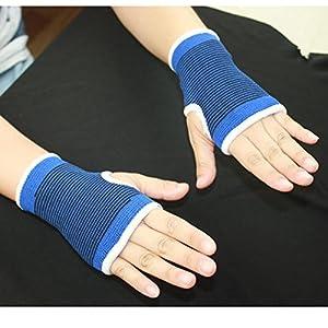 JWBOSS Blau Elastische Handschuh Gymnastik 2 Stück Handgelenkstütze Hand Elbow Palm Brace Sicherheit Nylon Polyester Sch