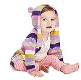 Yanhoo Unisex Baby Kinder Strickjacke Mit Kapuze Winter Langarm Streifen Verdickte Warm Windbreaker Jacke Winter Coat Mantel Dicke Kleidung