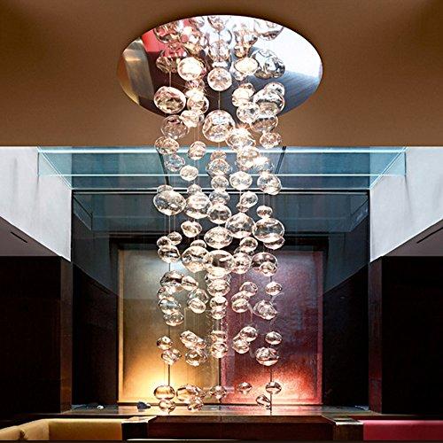 Lampadario a bolle di vetro semplice e moderno lampadari a bracci creatività personalità arte negozio di abbigliamento camera da letto soggiorno illuminazione sfera a bolle trasparente