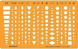 Trace Gabarit 1.2mm Plastique Transparent Dessin Traçage Illustration Conception de Bijoux Scrapbooking Décoration - Symboles