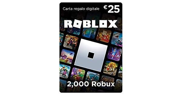 Numero De Telefono De Roblox Carta Regalo Roblox 2 000 Robux Amazon It Videogiochi