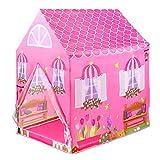 KinderSpielzelt Zur Verwendung Drinnen Oder Draußen Kinder Spielhaus für Mädchen ab 3 Jahre Rosa,Mädchen Partei Schloss (Mehrweg)