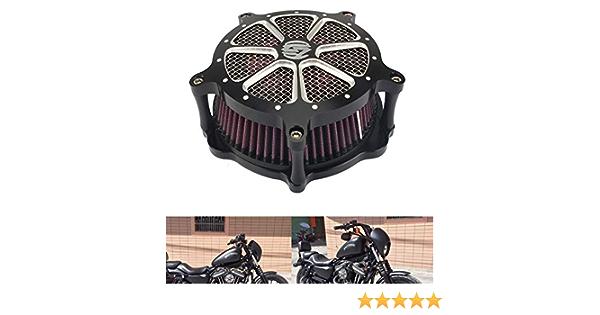 Motor Deep Cut Luftfilter Soft Tail Modifizierte Sd Große Luftfilter Harley Flhr Flht Flhx 08 15 Xl883 1200 48 Auto