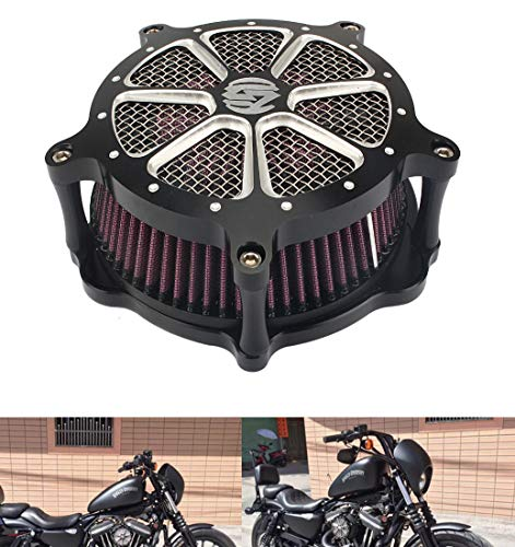 Price comparison product image Motor Deep Cut Air Cleaner Soft Tail Modified SD Large Air Filter Harley FLHR FLHT FLHX 08-15 XL883 1200 48