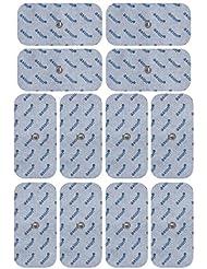 12 électrodes TENS 10 x 5 cm compatibles avec les appareils Beurer (Em 40 / Em 41 / Em 41.1 / Em 80) et Sanitas (SEM 40/41/42/43/44)
